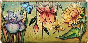 Anuschka Women's Floral Dreams Ladies Clutch Wallet