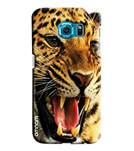 Omnam Tiger Face Annoyed Printed Designer Back Cover Case For Samsung Galaxy S6