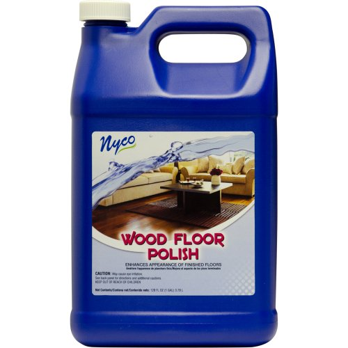 Nyco Products Nl90429 Wood Floor Polish, Acrylic Scent, 8.0 - 9.0 Ph, 1 Gallon Bottle (Case Of 4) front-616312