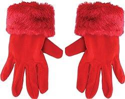 True Gear Women's Winter Gloves (Red)