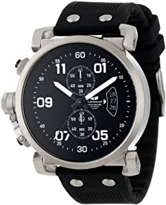 Vestal Men's OBCS002 USS Observer Chrono Black/Silver Lume Watch