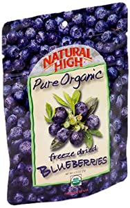 NATURAL HIGH Pure Organic Freeze Dried Blueberries