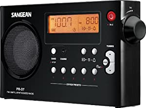 Sangean Pr-d7 Bk Am/fm Digital Rechargeable Portable Radio Black