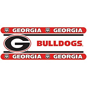 Georgia bulldogs ncaa decor wall border 3 pack 5 in by 15 for Georgia bulldog bedroom ideas