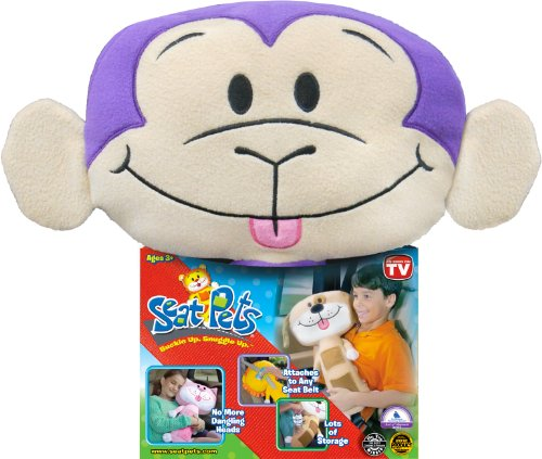 Seat Pets Purple/Tan Monkey Car Seat Toy