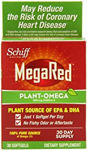 MegaRed Plant-Omega Omega-3 Supplement, 30 Count