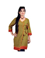 Jaipur RagaDesigner Girls Hand Block Print Red Cotton Top Red Cotton Kurti - B00UAHHYT8