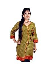 Jaipur RagaDesigner Girls Hand Block Print Red Cotton Top Red Cotton Kurti - B00UAHHYT8