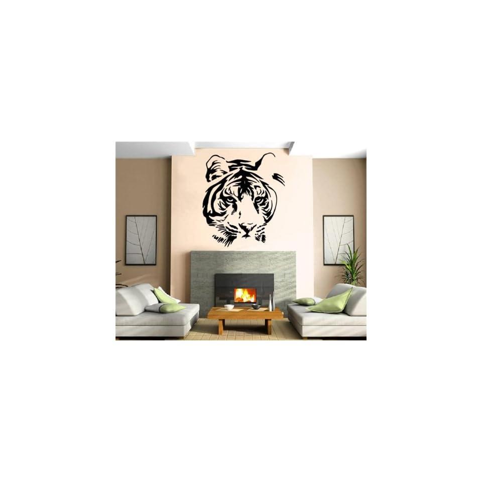 Tiger Head Animal Decor Wall Mural Vinyl Art Sticker M275