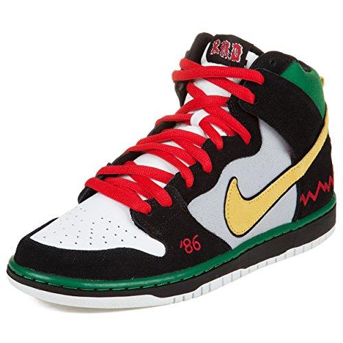 "Nike Mens Dunk High Pro Sb ""Mc Rad"" Black/Green/Red-White Suede Skateboarding Size 11.5"