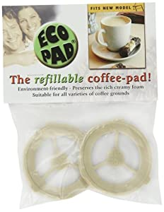 Ecopad 6-Pack The Permanent Refillable Coffee Filter for the Classic Senseo models HD7810-HD7819 - Create your own custom strength and Flavor