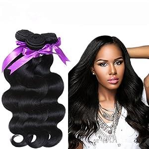 Danolsmann Hair Grade 6A Unprocessed Virgin Brazilian Hair Extension Natural Color Human Hair Weave 3 Bundles/Lot 10.6oz Body Wave Hair(22inch 22inch 22inch)