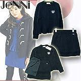 SISTER JENNI(ジェニィ) ニットセットアップ[セーター+スカート+ペチコート] (130-160) 72013/クロ30 (160cm)