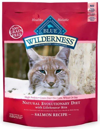 Detail image Blue Buffalo Wilderness Grain Free Dry Cat Food, Salmon Recipe, 11-Pound Bag
