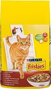 FRISKIES Boeuf, Poulet, Légumes ajoutés - 7,5 KG - Croquettes pour chat adulte
