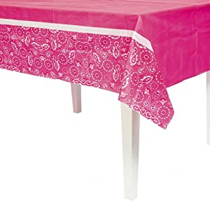 Pink Cowgirl Table Cover