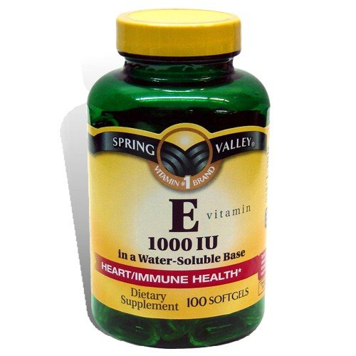 Spring Valley - Vitamin E Water Soluble 1000 Iu, 100 Softgels