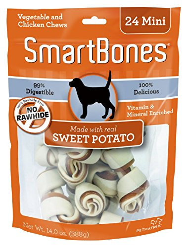 SmartBones Sweet Potato Dog Chew, Mini, 24 pieces/pack (Raw Made Easy Cat compare prices)