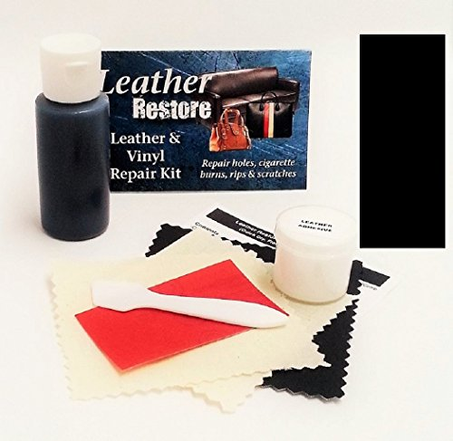 Leather Repair Kit with READY TO USE Color, BLACK (Vinyl Sofa Paint compare prices)
