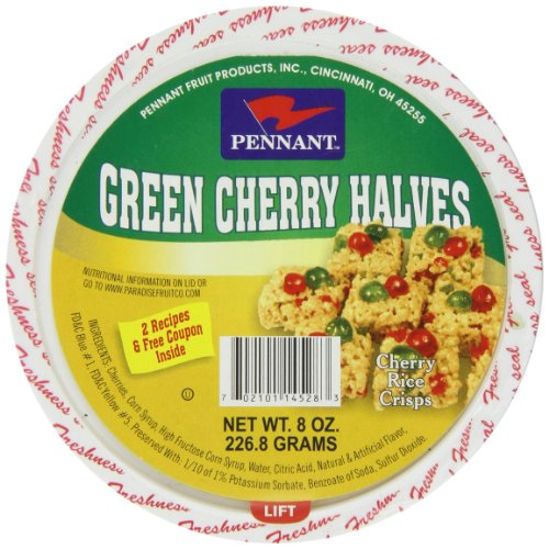Pennant Green Cherry Halves, 8 Ounce (Pennant Candied Fruit compare prices)