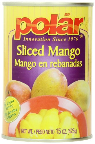 MW Polar Canned Fruit, Sliced Mango, 15 Ounce (Pack of 12) (Canned Mangoes compare prices)