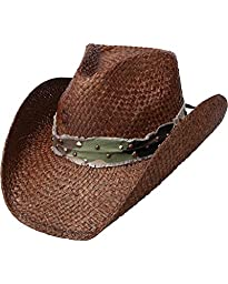Charlie 1 Horse Men\'s Hard To Handle Straw Cowboy Hat Brown X-Large