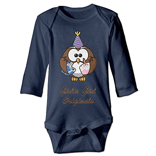 [Owl Happy Party Hat Cake Gift Animal Cute Boy And Girl Baby Romper Jumpsuit 18 Months Navy] (Dances With Wolves Costumes Designer)