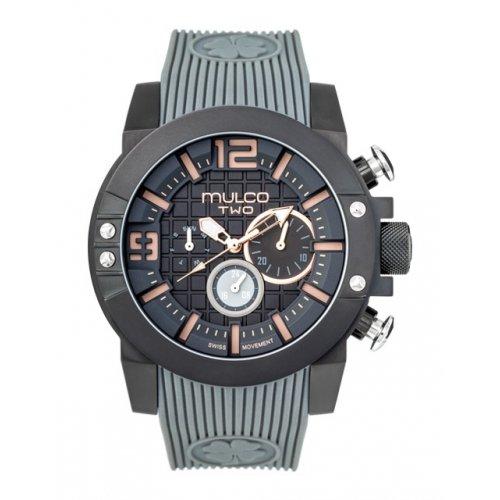 Reloj Mulco MW5-3704-215 Hombre Negro Silicona Chronográfo