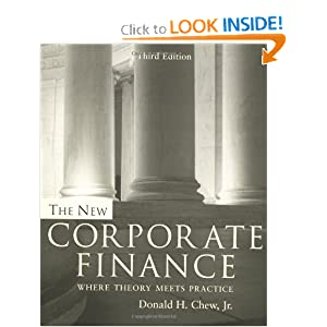 The New Corporate Finance Donald Chew