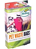 BioBag Dog Waste Bags, Large Sized, 35-Count Boxes (Pack of 4)