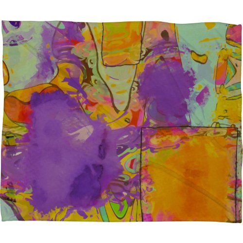 Deny Designs Ingrid Padilla Brush Fleece Throw Blanket, 60-Inch By 50-Inch front-957747