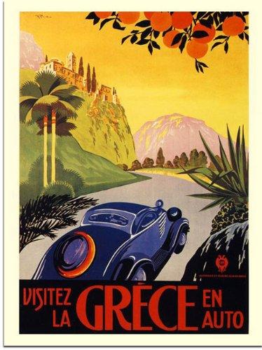Greece, Travel Poster (30x40cm Art Print)