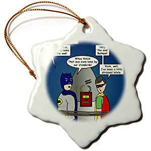 Rich Diesslin Lame Lines and the Classic Batman TV Show Snowflake Porcelain Ornament, 3-Inch