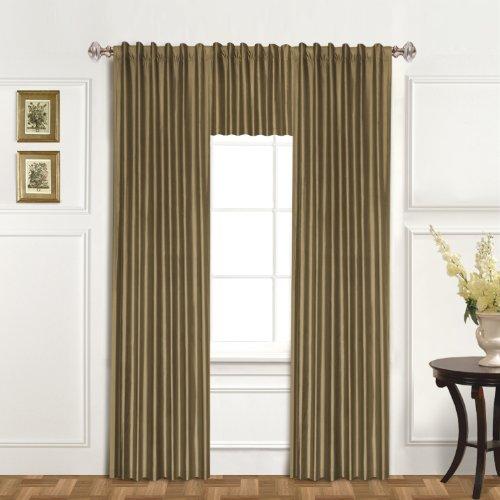 United curtain 100 percent dupioni silk window curtain for 120 inch window treatments