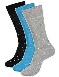 Balenzia Men's Mercerized Socks (Pack Of 3) (Jagmini28_Multi)