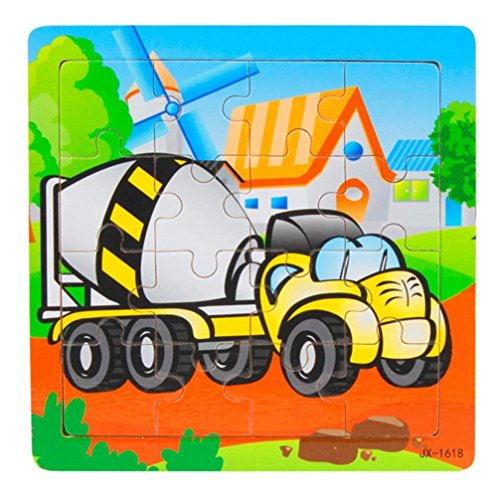 Learning Puzzles Toys, Welcomeuni Wooden Kids 16 Piece Jigsaw Toys For Children Education
