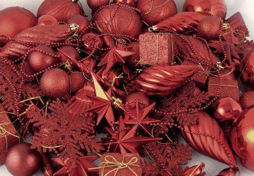 Vickerman 125-Piece Ornament Set, Red