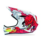 Giro Remedy Full Face Mountain Bike Helmet (Large, Matte White/Red Demons)