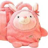 (ハニーブロッサム) HONEY BLOSSOM キッズ & ベビー バッグ 【 ふっくら 柔らか ぬいぐるみ リュック 】 グレージュ くま ベビーピンク うさぎ こども用 お出掛け カバン 可愛い プレゼント 男の子 女の子 2タイプ m210 pink うさぎ