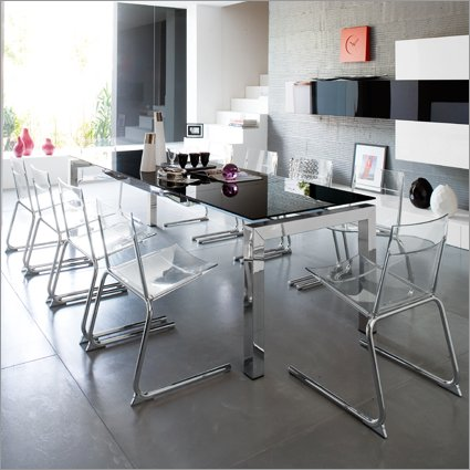 Calligaris airport extendable table cs 4011 dining table for Airport one calligaris