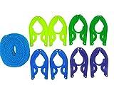 Tetedeer 携帯 ハンガー セット(折りたたみハンガー8個、ハンガーストップロープ1本)