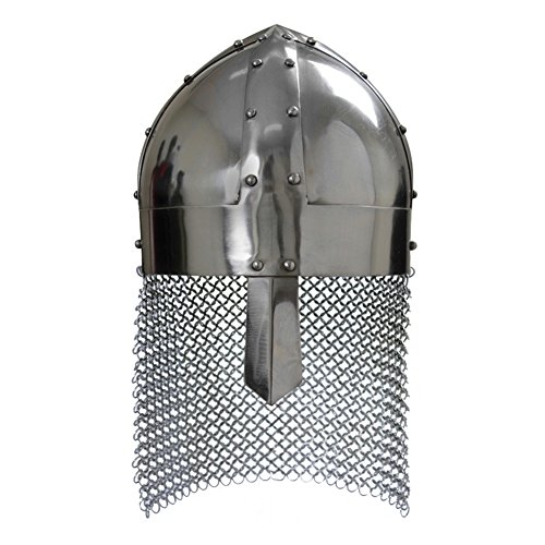 Armor Venue: Viking Spangenhelm Steel Head Armour Helmet Silver One Size