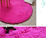 Super Soft Shaggy Rugs Rug Runners Round Area Rugs Modern Shag Hot Pink Carpet Living Room Carpet Bedroom Rug Washable Rugs Solid Home Decorator Floor Rug and Carpets