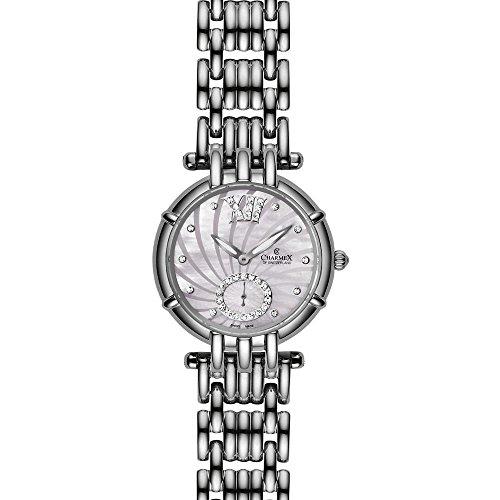 Charmex Pisa 6140 31mm Silver Steel Bracelet & Case Synthetic Sapphire Women's Watch