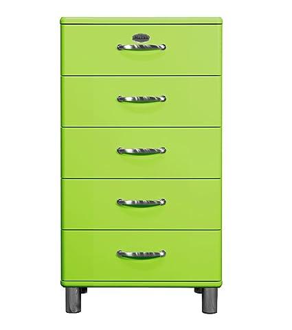 Tenzo 5215-021 Malibu, Designer Kommode, 111 x 60 x 41 cm, MDF lackiert, grun