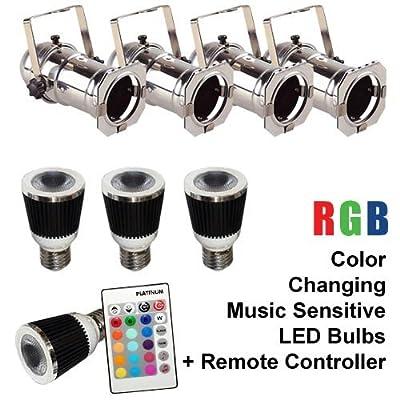 PLATINUM 4 x RGB-E27-XM + 1 x RGB-IR-XM + 4 x OPT16 Chrome