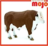 MOJO HEREFORD BULL HAND PAINTED REPLICA ANIMAL COLLECTABLE TOY FIGURE 387066