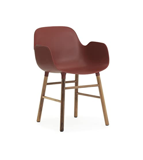 Normann Form Arm Chair Walnut - Rød