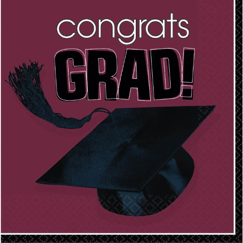 Congrats Grad Berry Graduation Lunch Napkins