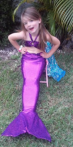 Swimmable Mermaid Tail Purple 8/9